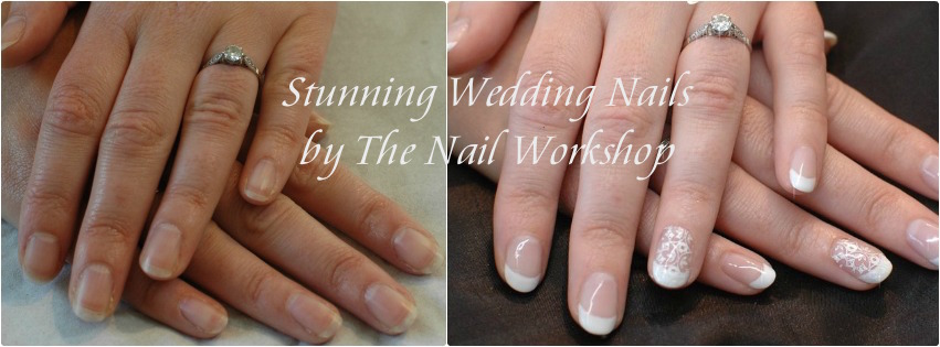 Before and After Gel II French Wedding Nails
