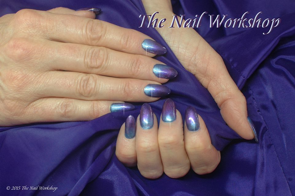 Gel II Another World with Chrome Pigment Ombre