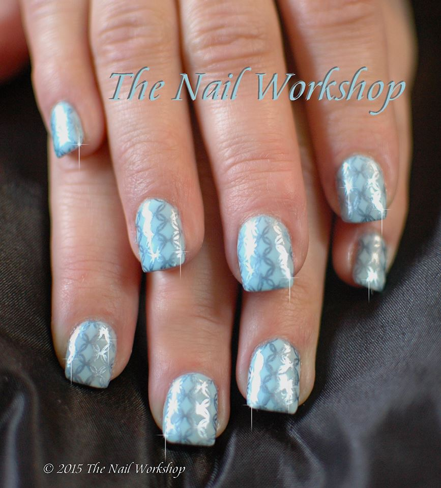 Gel II Carousel Collection with Metallic Blue Stamping