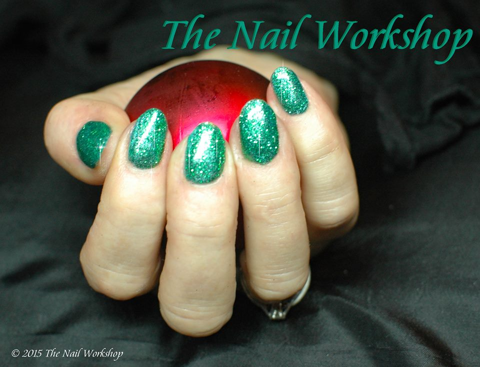 Gel II Deep Ocean and Green Glitter
