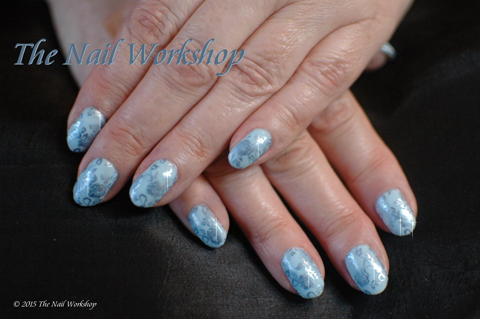 Gel II Frou Frou Blue and Light Blue Stamping