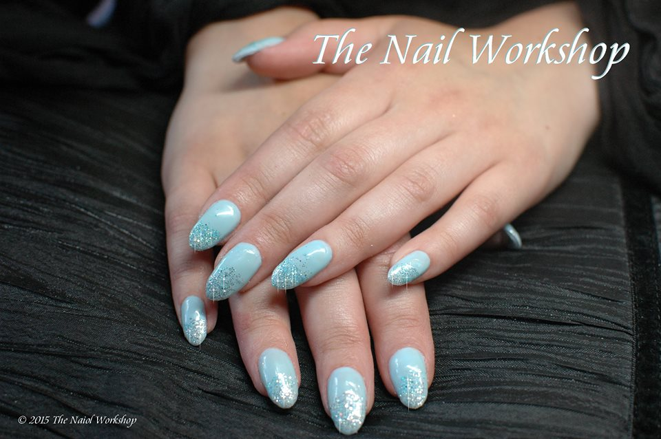 Gel II Frou Frou Blue and Glitter