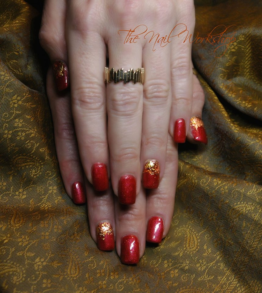 Gel II Metro and gold leafing