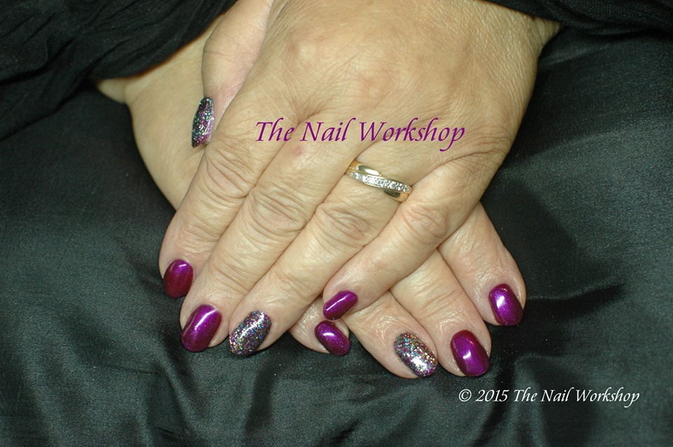 Gel II Passion and CND Glitter