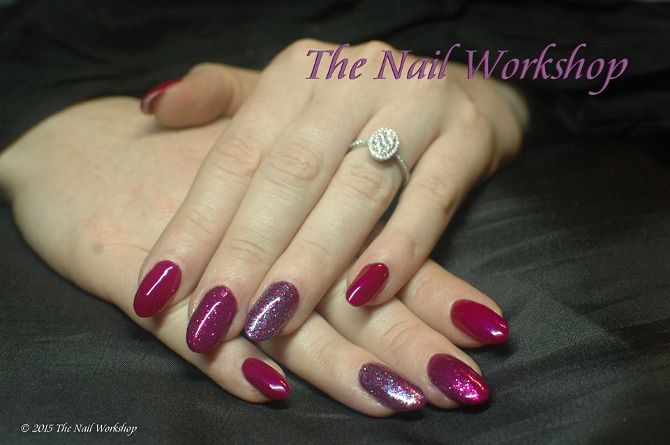 Gel II Passion with multicoloured glitters