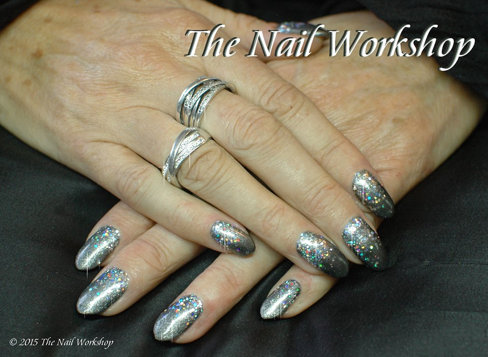 Gelish Silver with Glitter