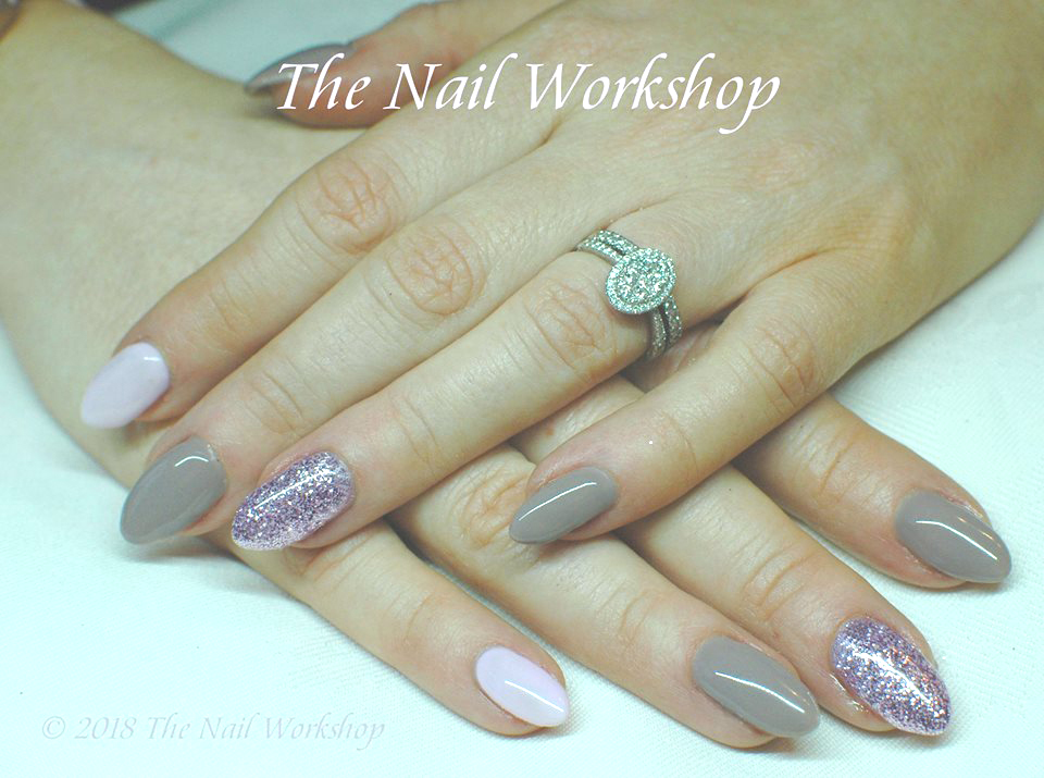 Ink London Nudes and Pinks with__ Pink Glitter