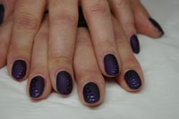 Matte Night Relection Gelish with gloss accents - Click here to enlarge this image