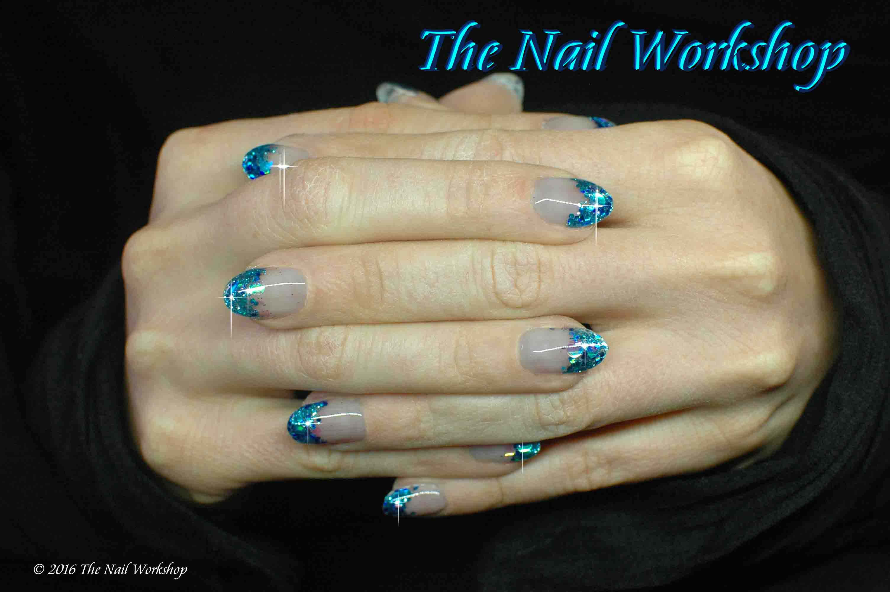 ProHesion Acrylic Encapsulated Blue and Green Glitter with Confetti
