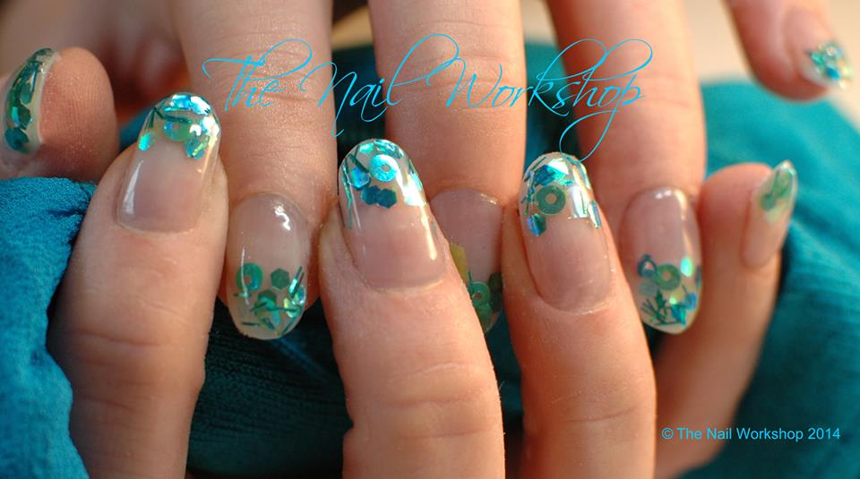 Summer nails prohesion acrylic with encapsulated glitter 1 prinsesfo Choice Image