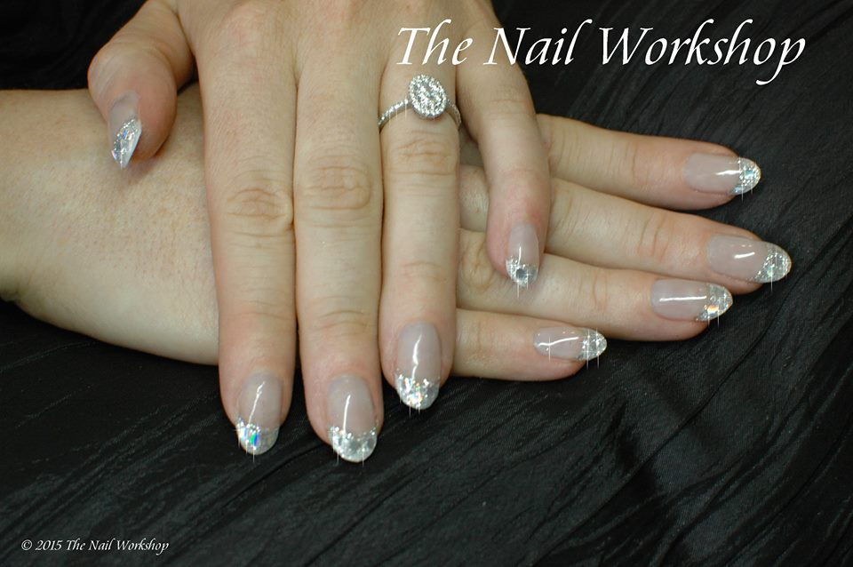 Prohesion Sculptured Arcylic with Encapsulated Silver Glitter