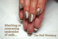 Gelish Eur So Chick and After Party nails, with matching undersides - Click here to enlarge this image
