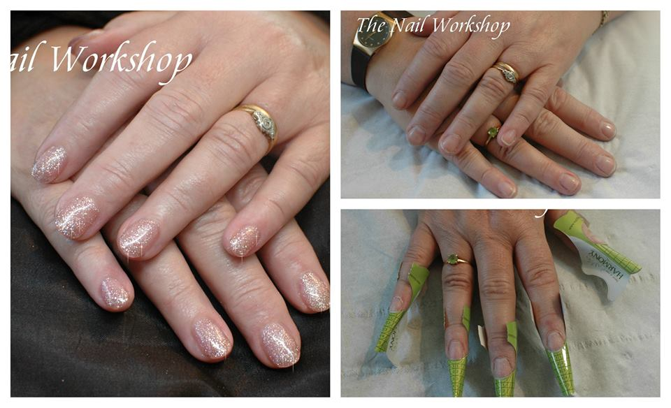 Sculptured Acylic Bridal Party nails