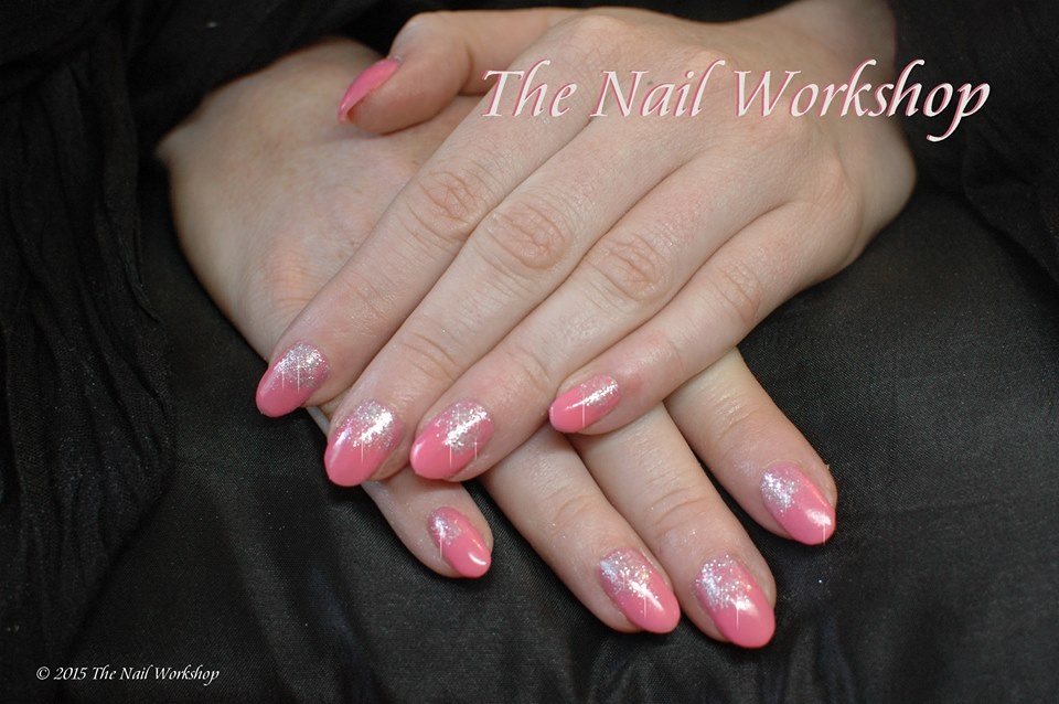 Shellac Pink with Glitter 1