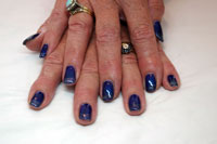 Gelish Caution with Vegas Nights on tips - Click here to enlarge this image