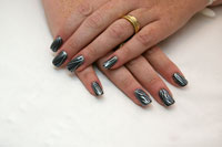 Gelish Commander in Chic with Silver - Click here to enlarge this image