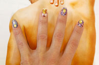 Nail Art for Euro 2012 - Click here to enlarge this image