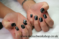 Gelish Black with Waterfield - Click here to enlarge this image