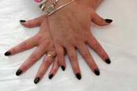 Black Gelish - Click here to enlarge this image