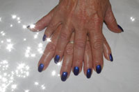 Gelish Caution Nails - Click here to enlarge this image