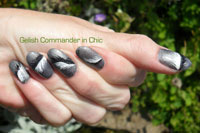 Gelish Commander in Chic from the Just For You Gelish Collection with feather detail - Click here to enlarge this image