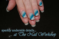 House of Gelish Cashmere Kind of Gal with a stripe of My favourite Accessory, Waterfields stripe and dot detail with sparkly underside - Click here to enlarge this image