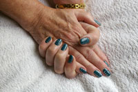 Gelish mix with flicks - Click here to enlarge this image