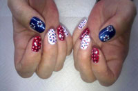 Nails decorated for the Jubilee - Click here to enlarge this image