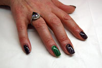 Karen's Nails with Magneto and diagonal stripe - Click here to enlarge this image