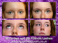 Kate with MYbrowz and AH Francis lash Extensions