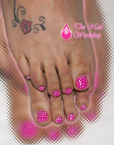 Candyland Polka Dot Toes - Click here to enlarge this image