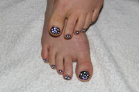 Purple Toes with white dots - Click here to enlarge this image