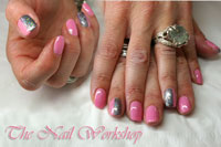 Pink with grey glitter - Click here to enlarge this image