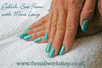 Seafoam and Minticing with snakeskin effect - Click here to enlarge this image