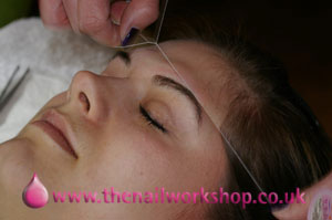 Eyebrow Threading - almost done